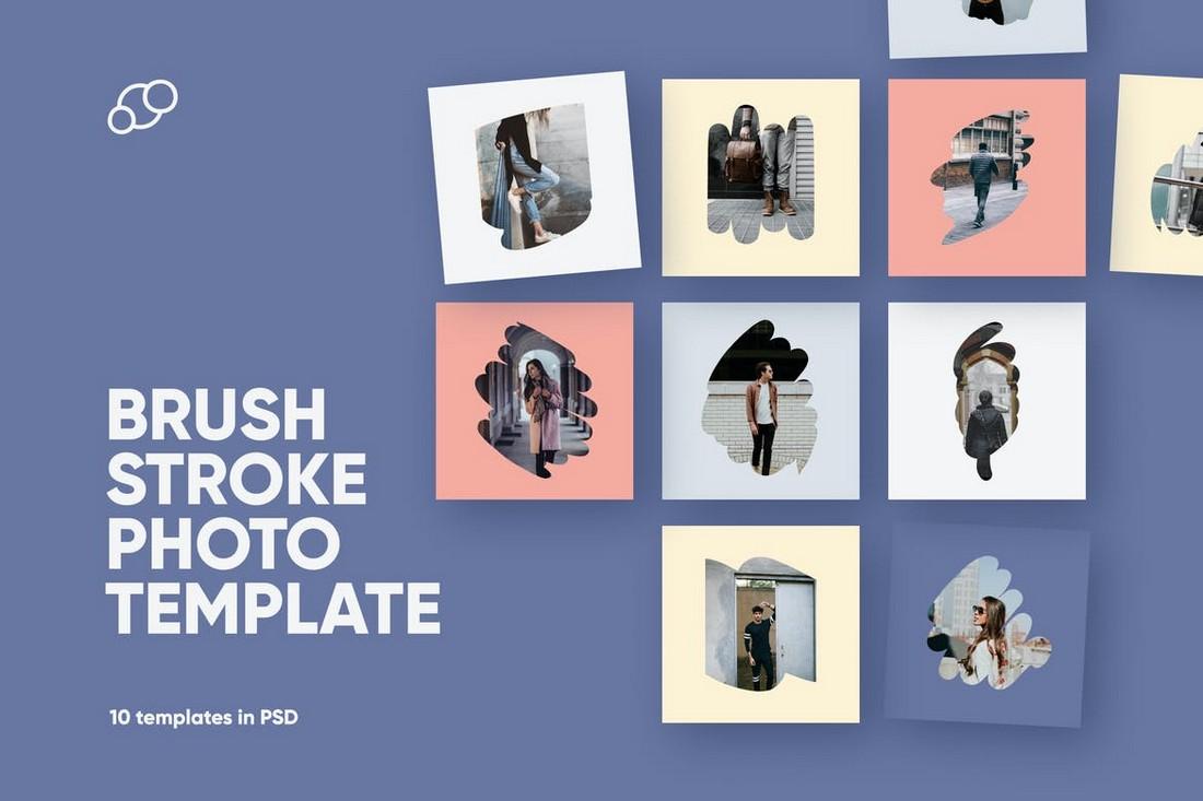 Brush Stroke Photo Frame Instagram Templates