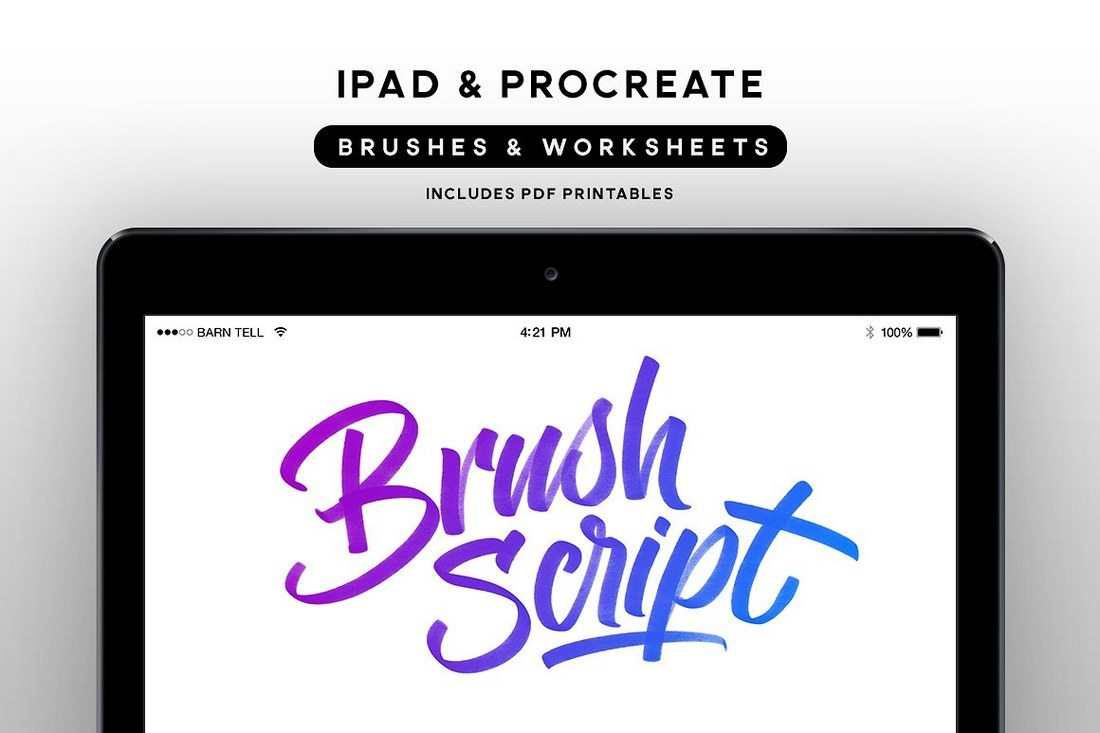 BrushScript-Bundle-for-Procreate 30+ Best Procreate Brushes design tips