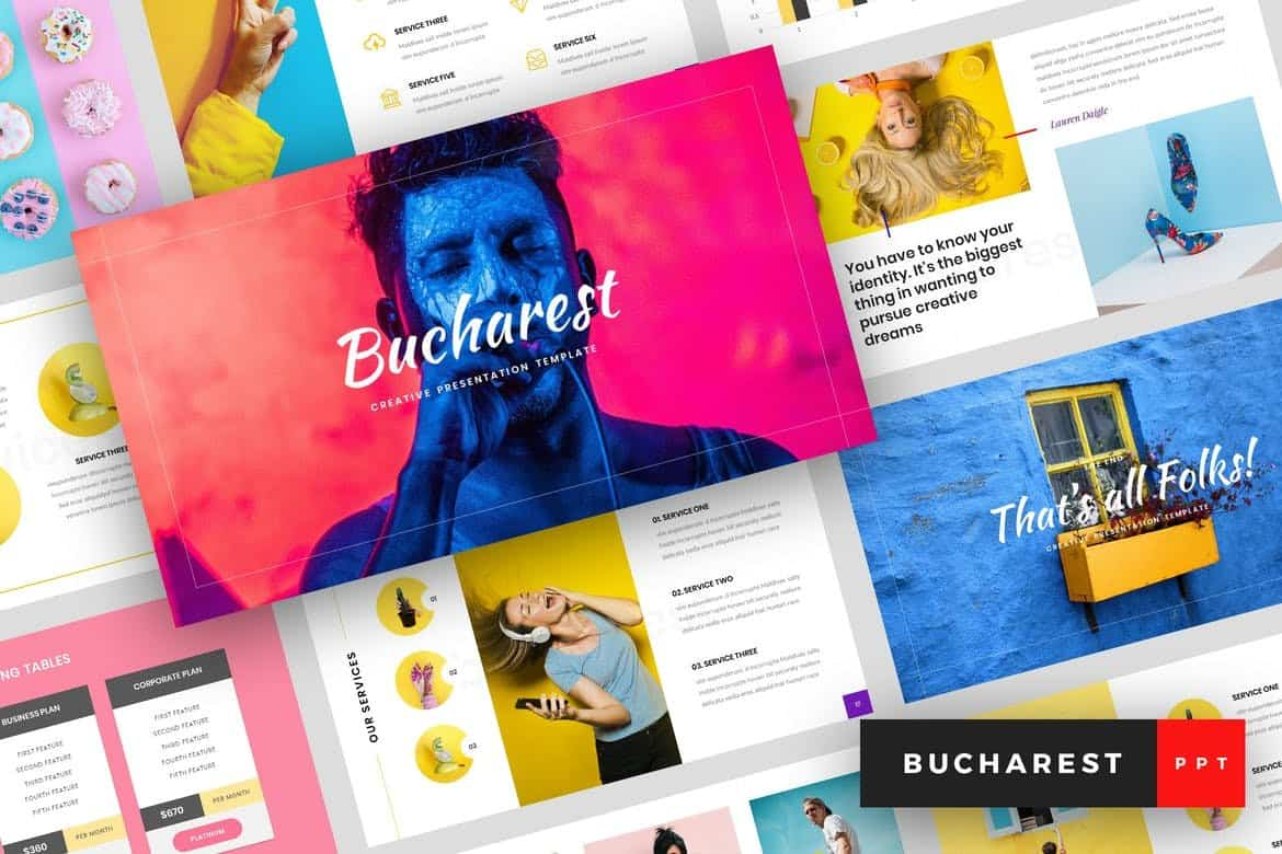 Bucharest - Creative Colorful PowerPoint Template