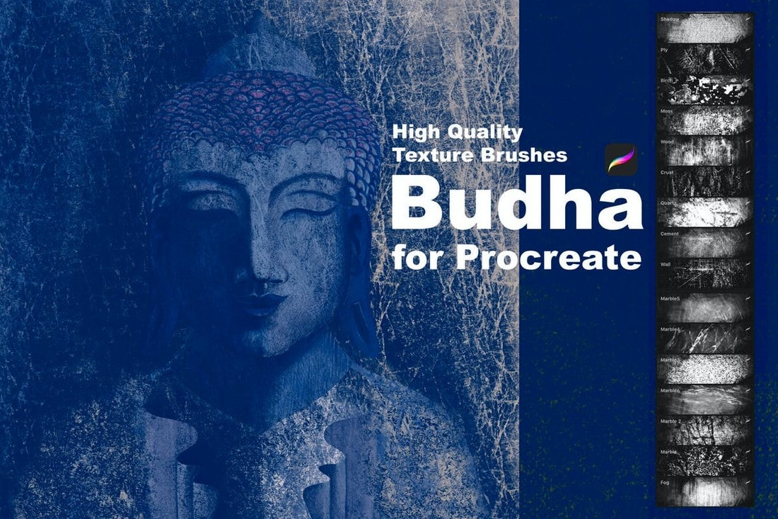 Budha-Texture-Brushes-for-Procreate 30+ Best Procreate Brushes 2020 (Free & Pro) design tips