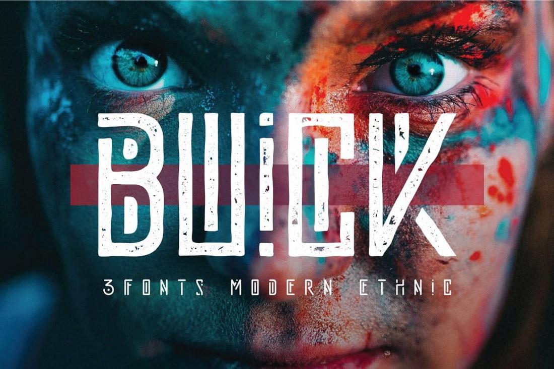 Buick - Modern Ethnic Font