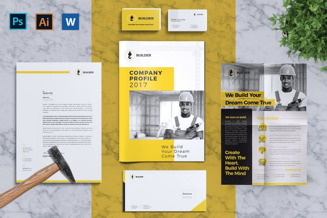 Builder - Complete Corporate Identity Templates