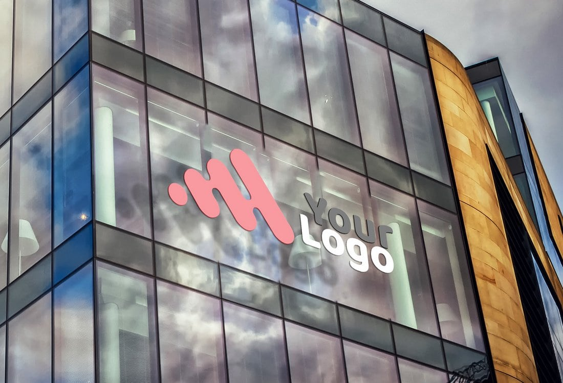Building-Facade-Logo-Mockup 100+ Logo Mockup Templates (PSD & Vector) design tips