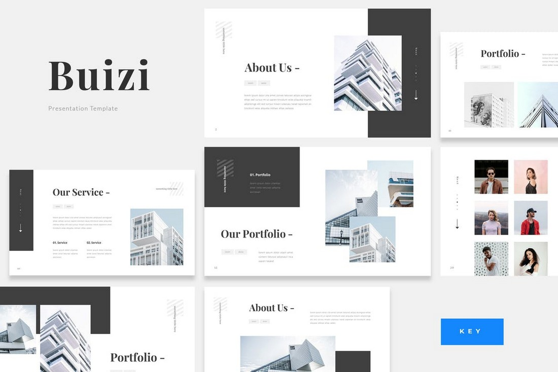 Buizi - Office Building Rent Keynote Template