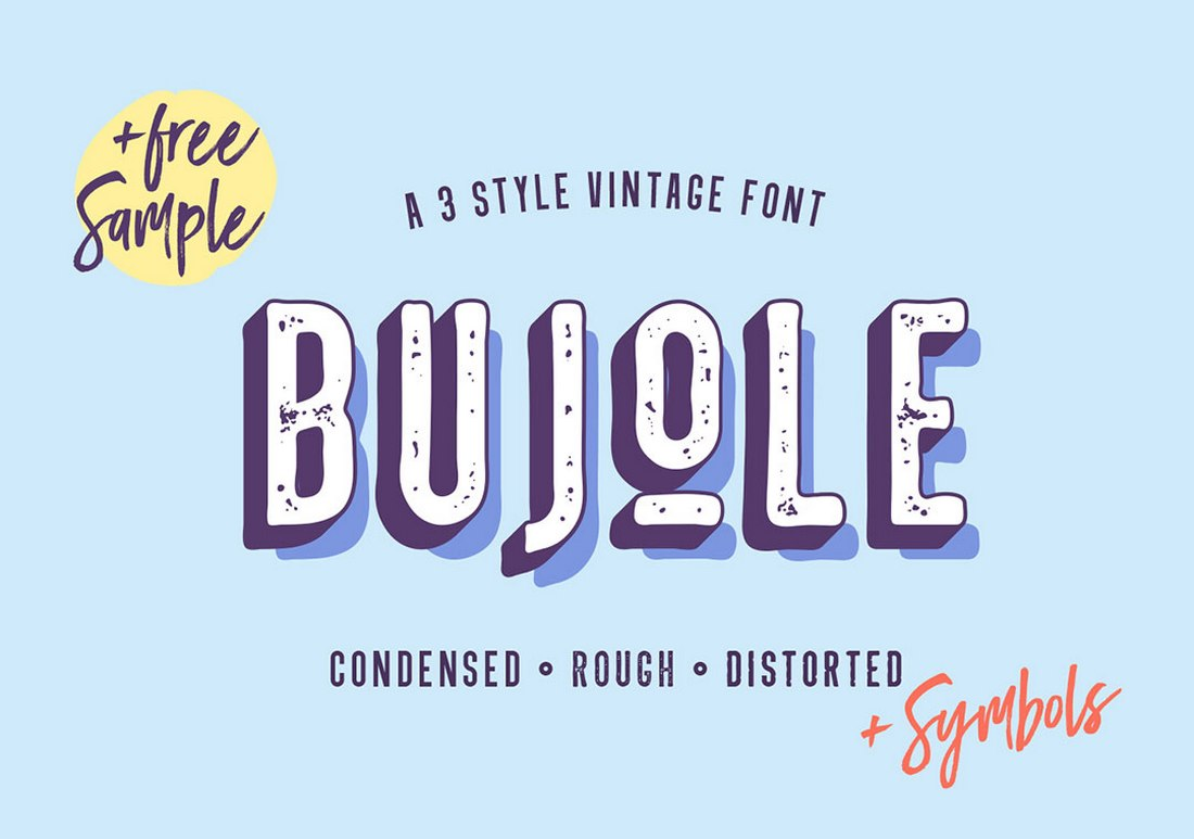 Bujole - Free Quirky Vintage Font