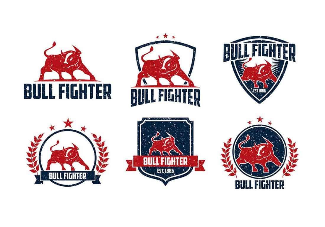 Bull Fighter Free Logo Templates