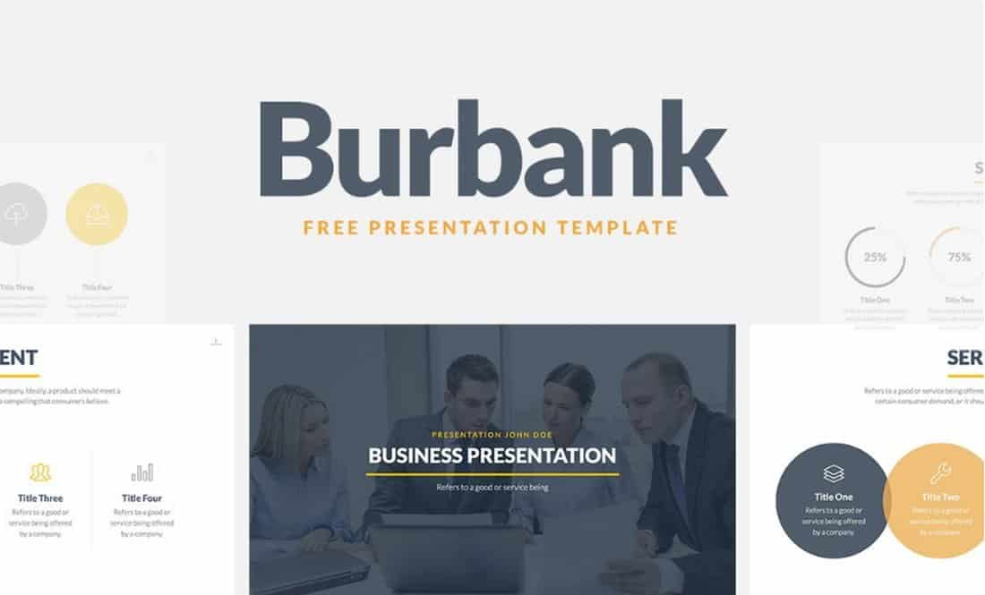Burbank - Free Business Presentation Template