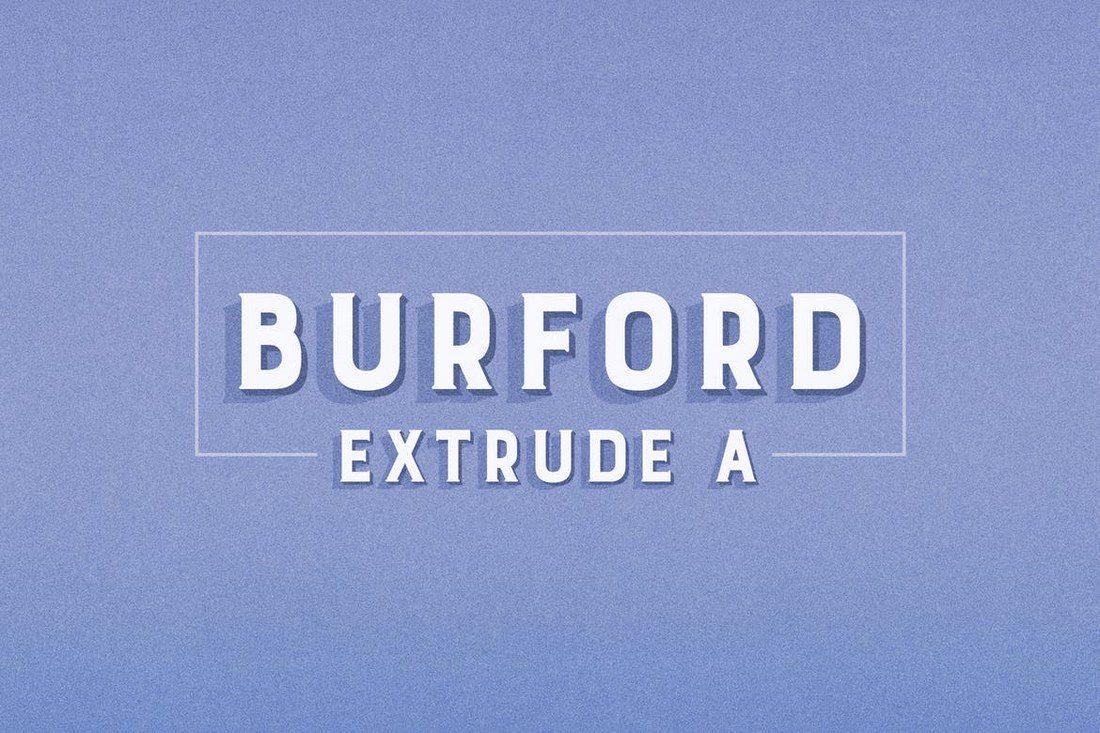 Burford-Extrude-A 25+ Best Monogram Fonts design tips