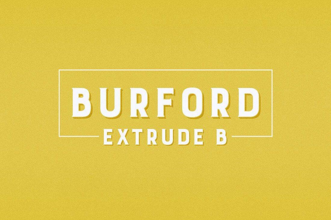 Burford-Extrude 60+ Best Big, Poster Fonts of 2019 design tips