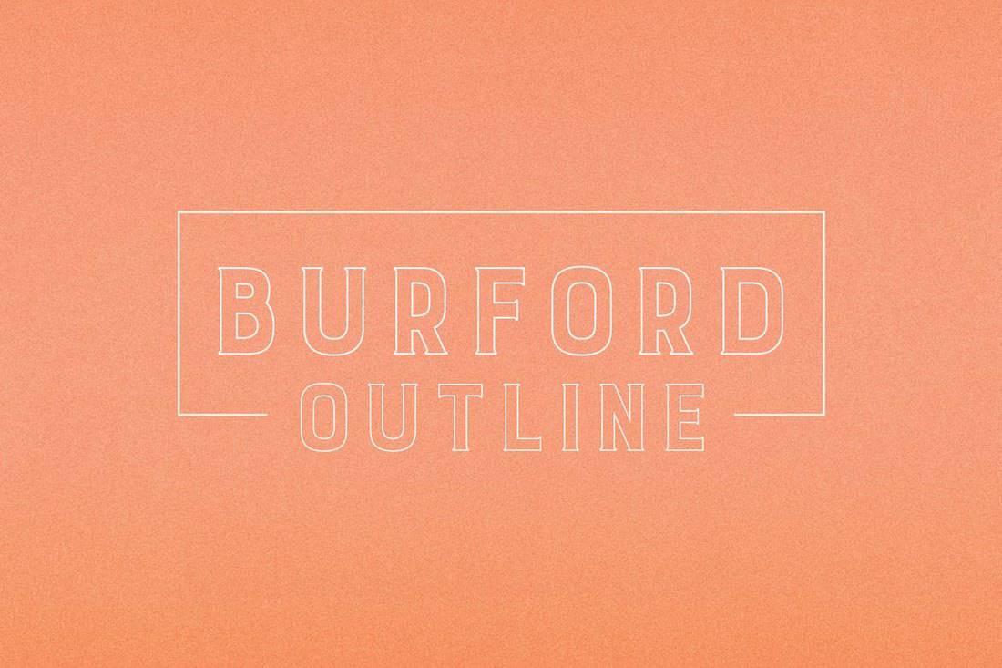 Burford Outline - Modern Outline Font