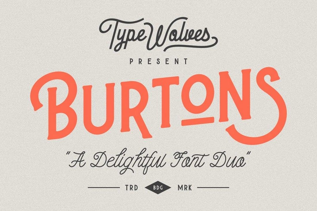 Burtons - Classic Serif & Script Font Duo