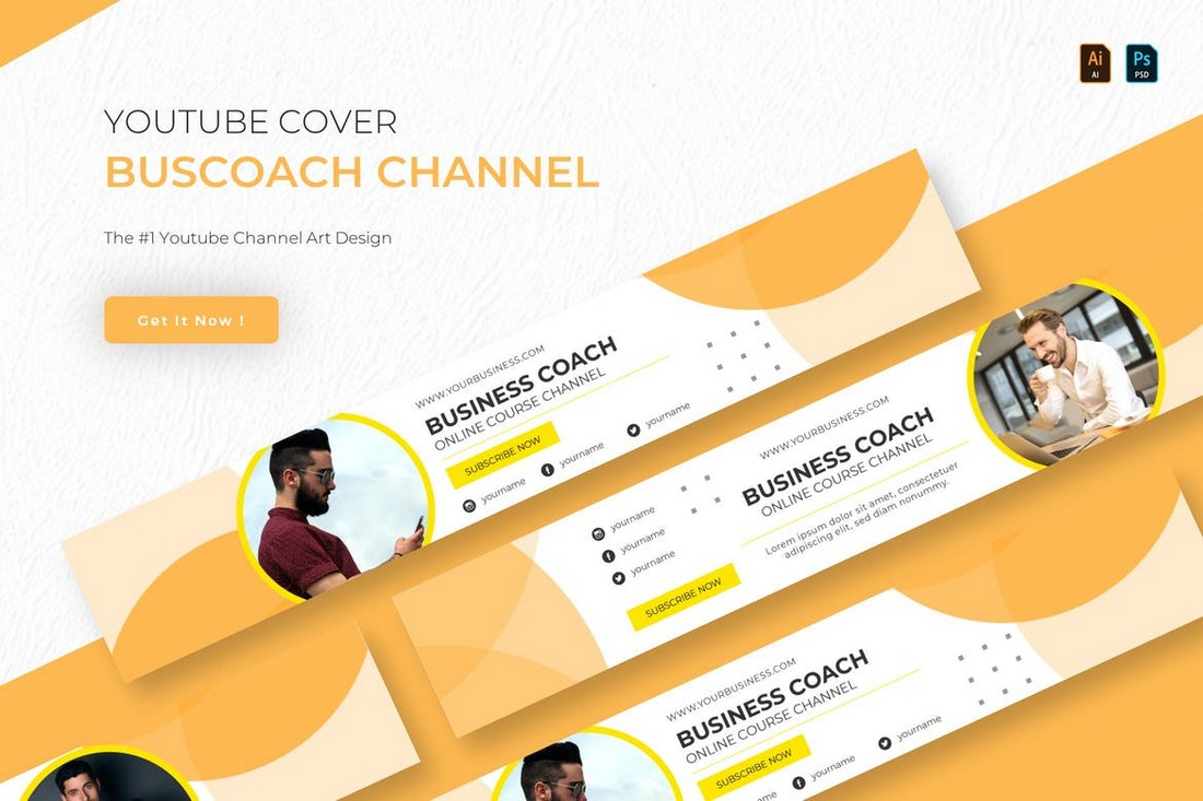 Buscoach - Youtube Cover Banner Template
