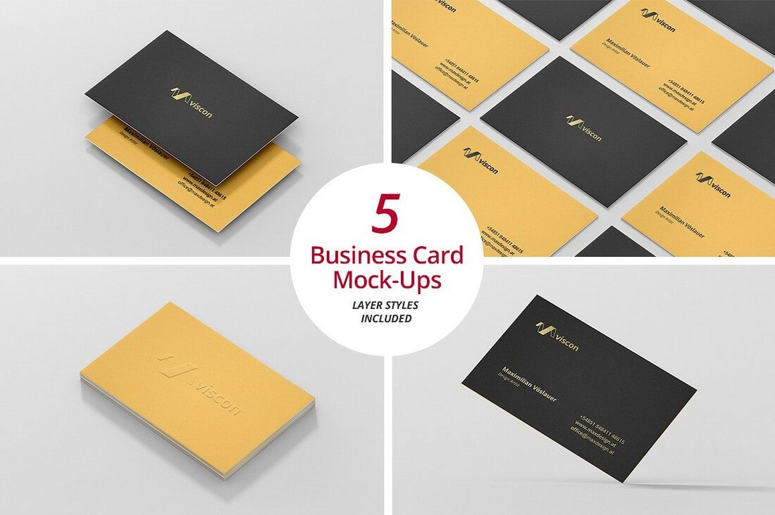 70+ corporate & creative business card mockups  design shack