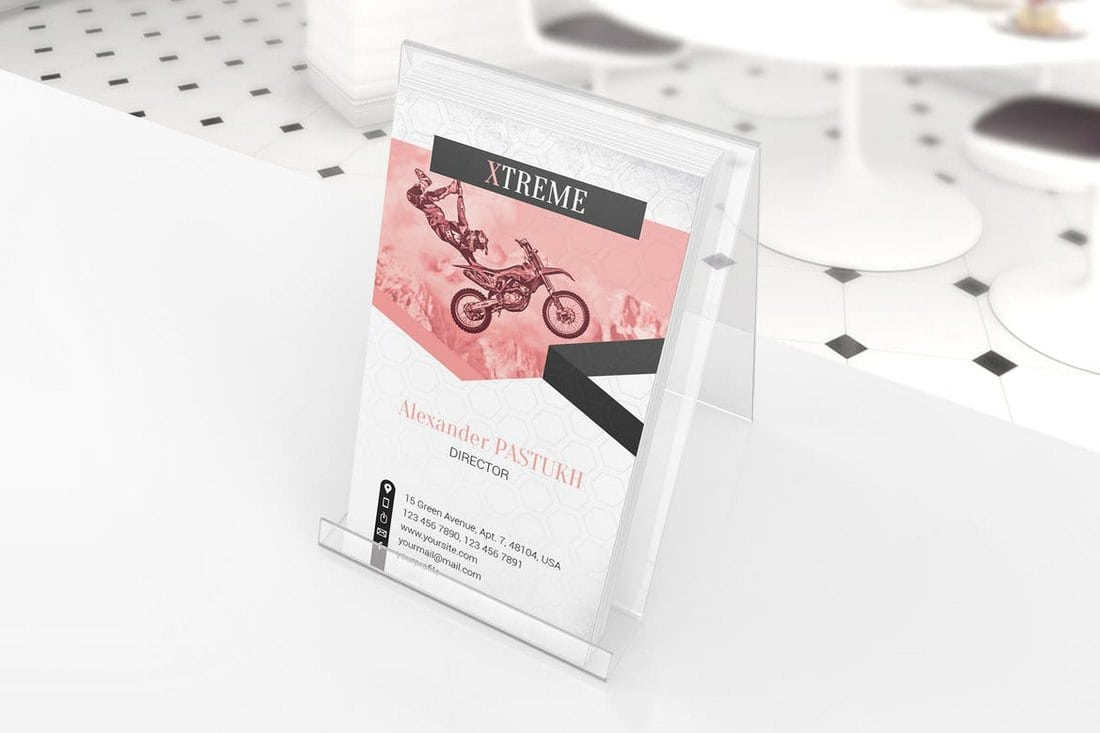 Business Card Mockup Display