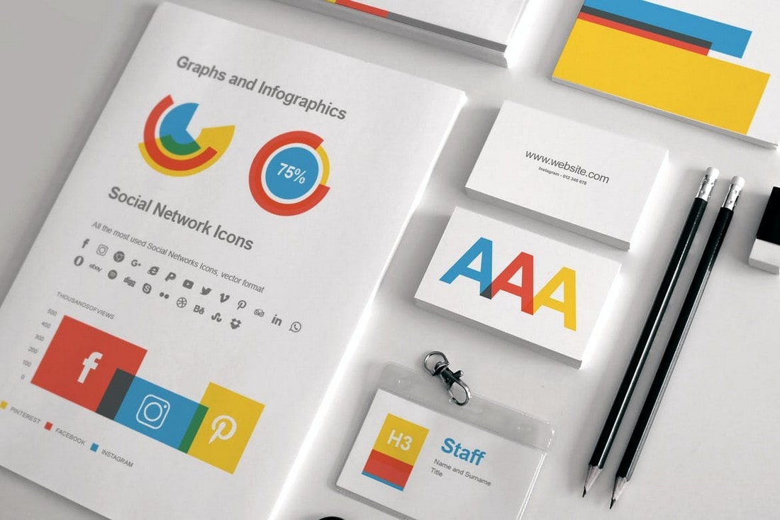 Business-Cards-Stationery-Templates-Pack 20+ Business Card Templates for Google Docs (Free & Premium) design tips