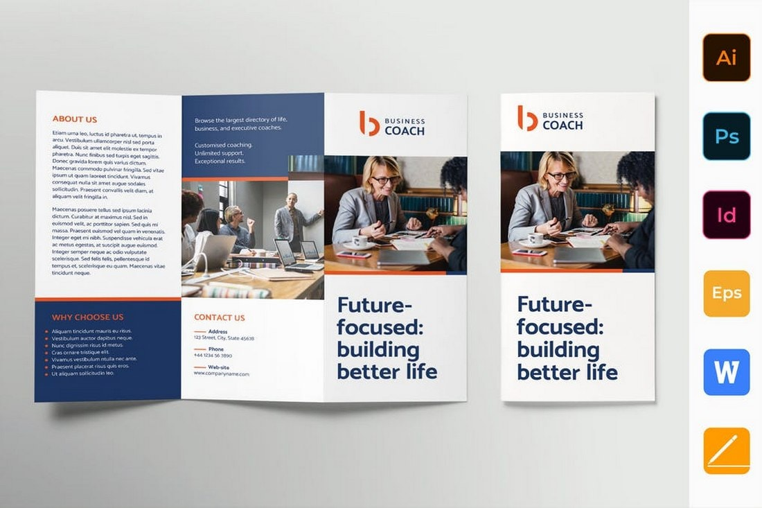 Business Coach Brochure Trifold brochure