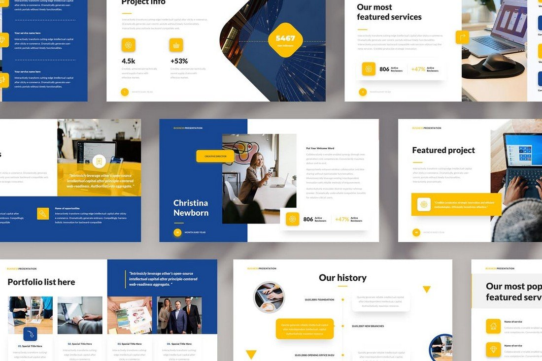 Business & Corporate PowerPoint Template