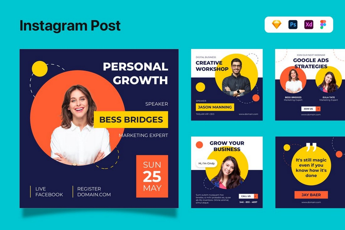 Business Instagram Post Templates