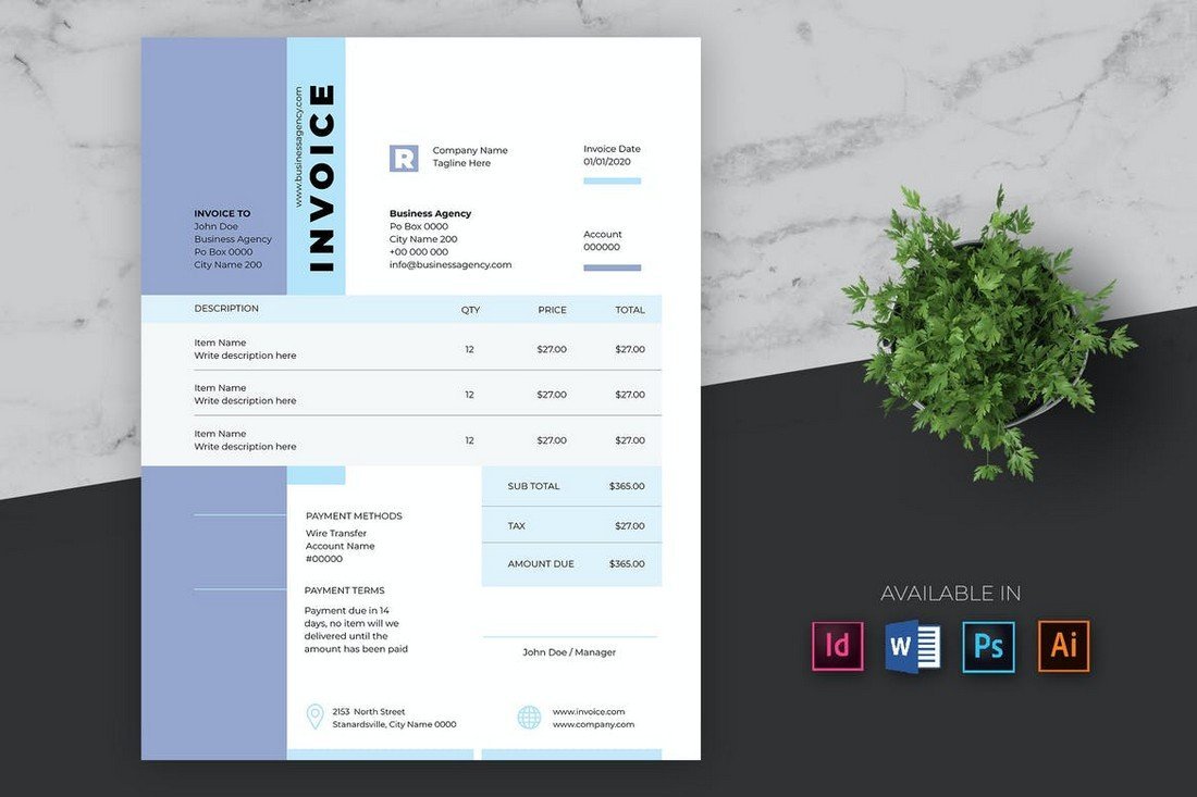 Business Invoice Template for Word