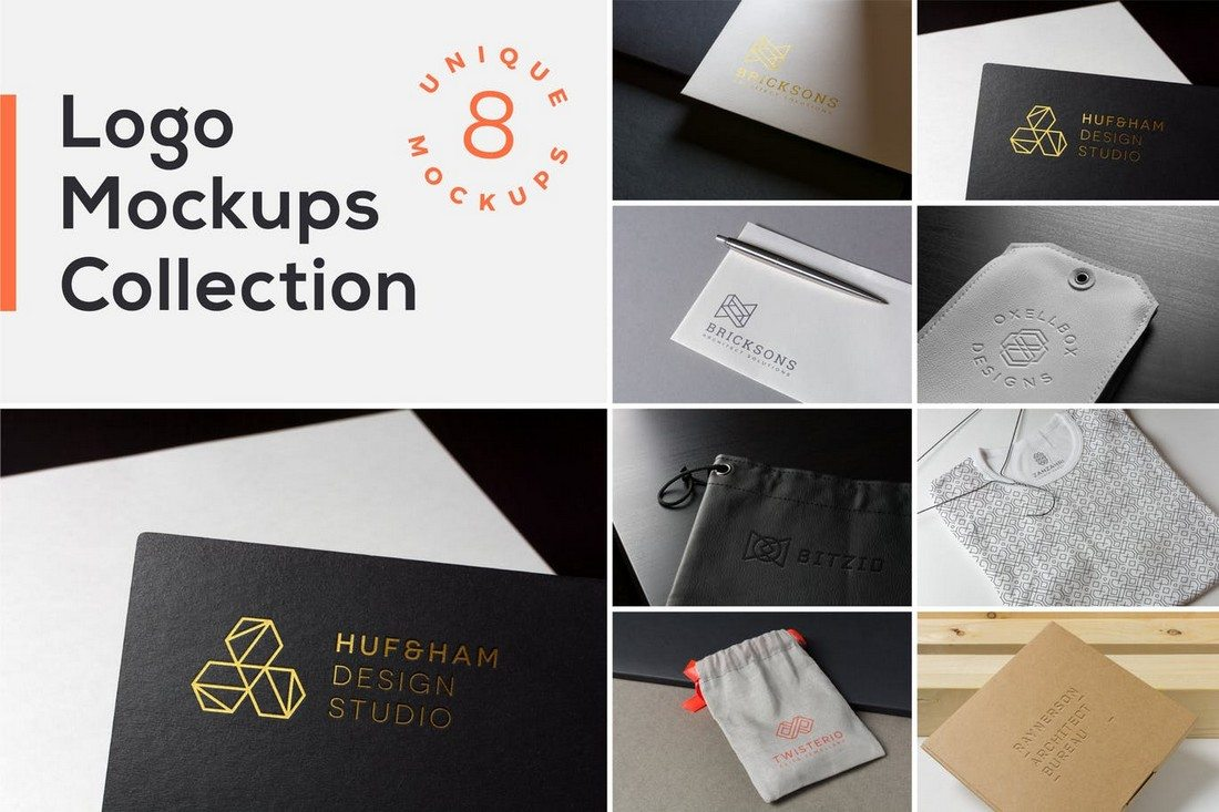 100 logo psd vector mockup templates design shack this is a curated collection of 8 logo mockups that offers several different ways of showcasing your logo including on business cards product tags magicingreecefo Images