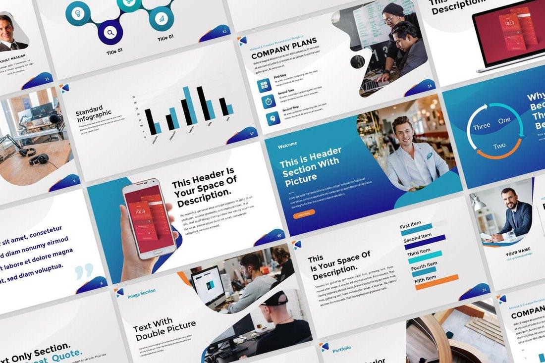 Business-Marketing-PowerPoint-Presentation-Template 30+ Best Business & Corporate PowerPoint Templates 2021 design tips