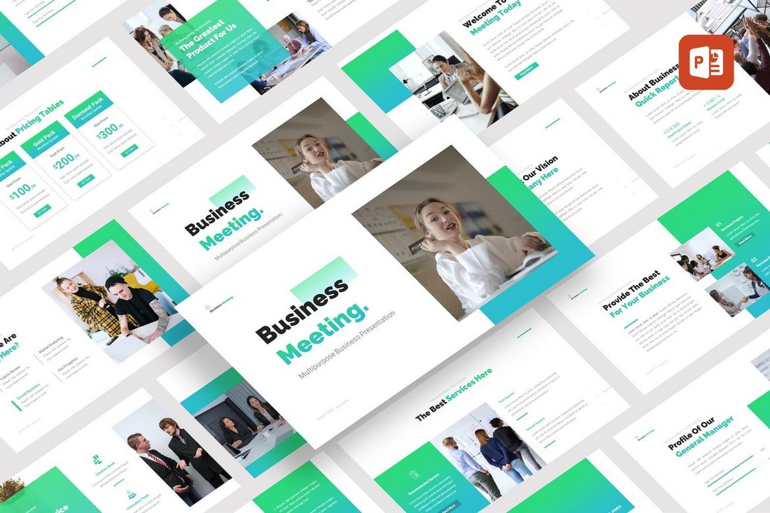 Business Meeting - Corporate PowerPoint Template