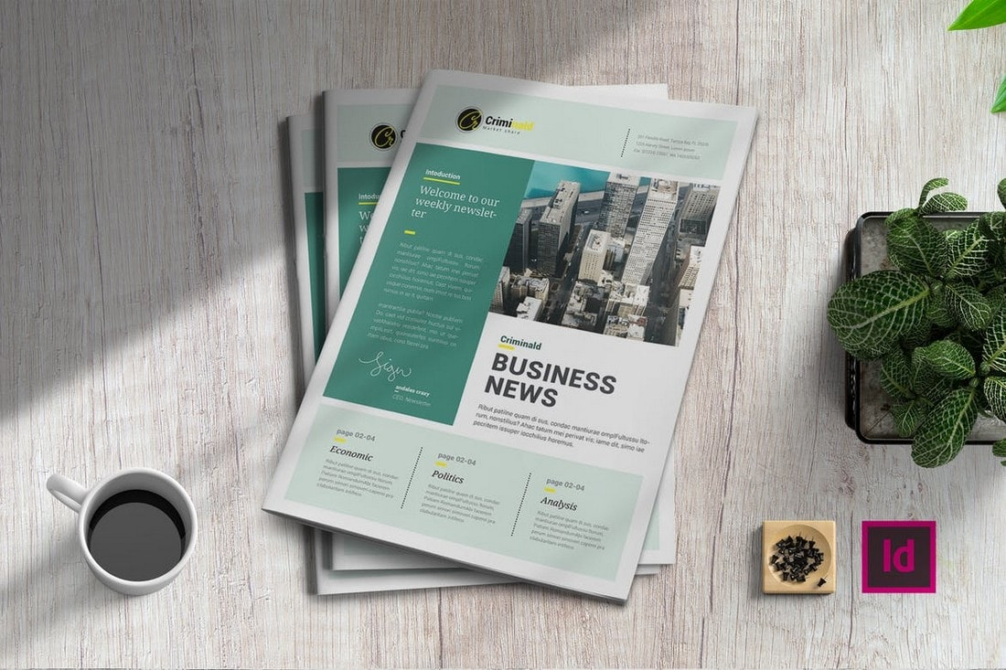 Plantilla de Periódicos InDesign de Business News