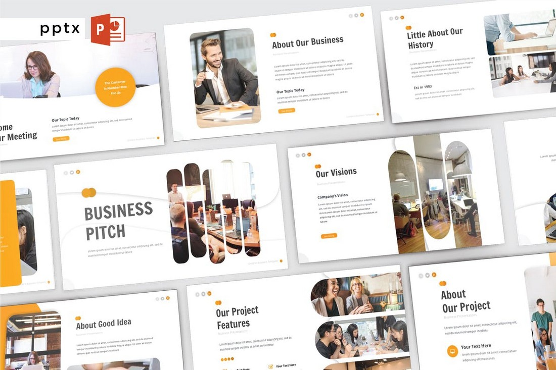 Business-Pitch-Modern-PowerPoint-Template 50+ Best PowerPoint Templates of 2020 design tips