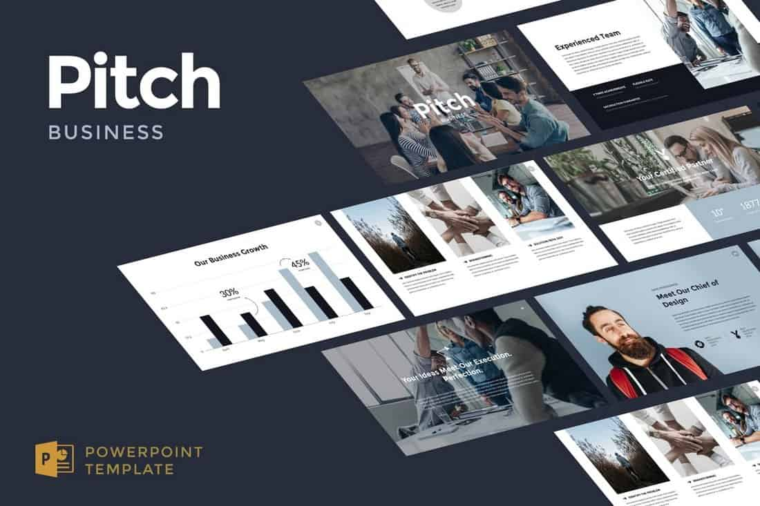 Business-Pitch-Powerpoint-Template 20+ Best Company Profile Templates (Word + PowerPoint) design tips  Inspiration|company profile