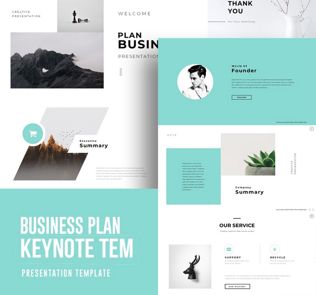 Business Plan - Free Keynote Template