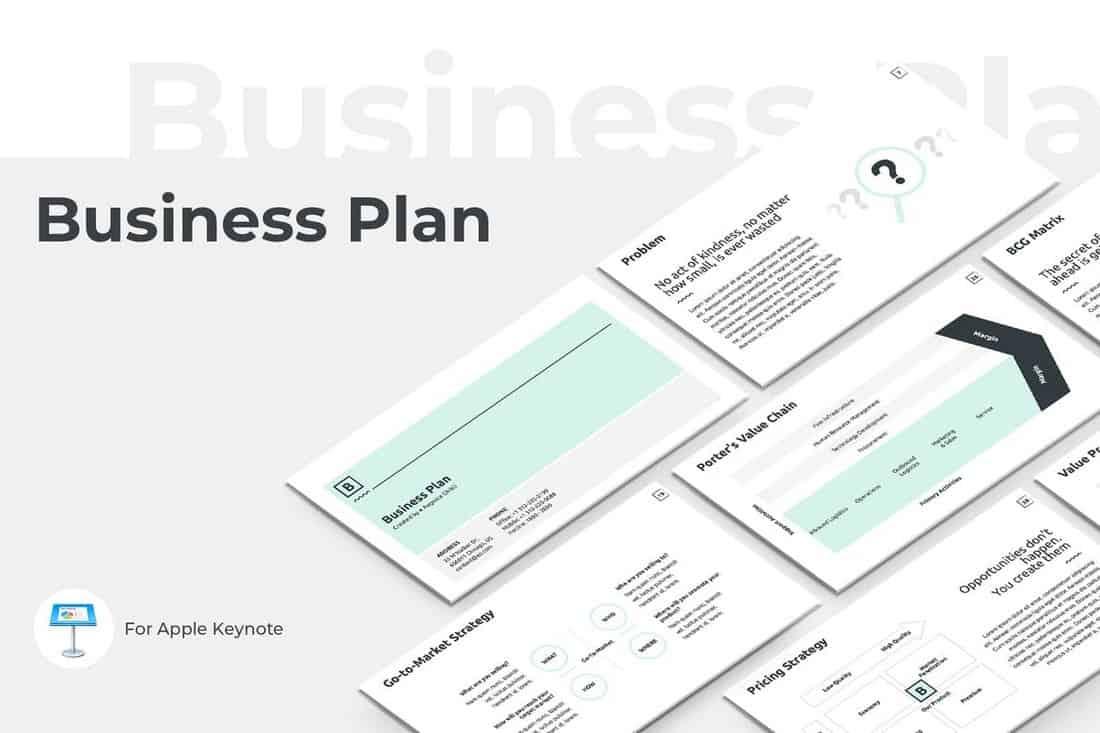 Business Plan Keynote Presentation Template
