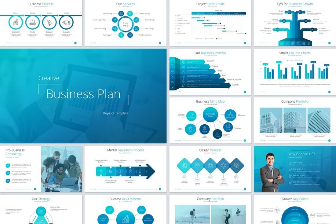 Business-Plan-Keynote-Template 30+ Best Keynote Templates of 2018 design tips