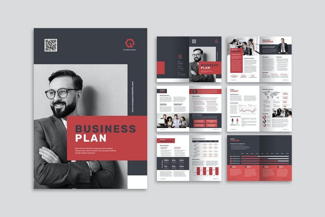 Business Plan Modern Brochure Template