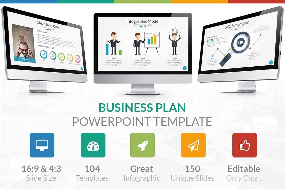 60 beautiful premium powerpoint presentation templates design shack business plan powerpoint template wajeb Gallery