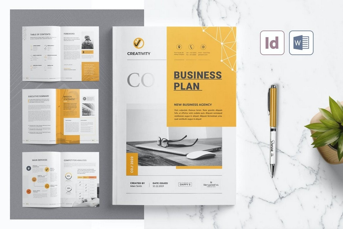 Business-Plan-Word-InDesign-Brochure-Template 40+ Best Microsoft Word Brochure Templates 2020 design tips  Inspiration|brochure|templates
