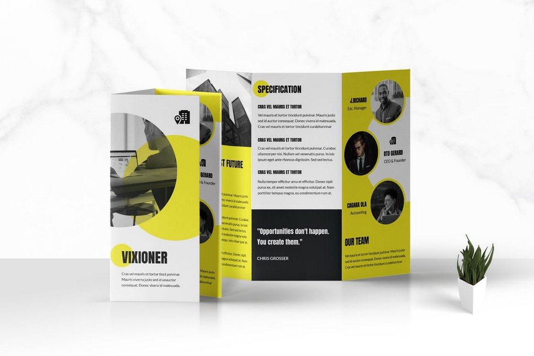 Business Promotional Trifold Brochure Template