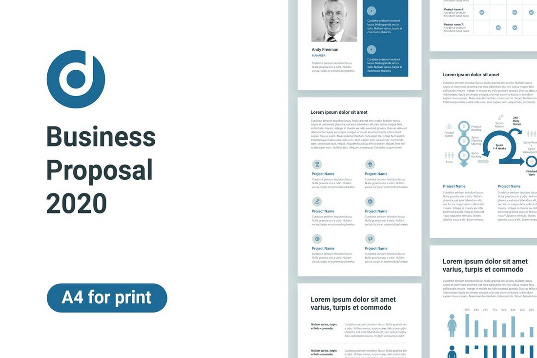 Business Proposal A4 PowerPoint Template