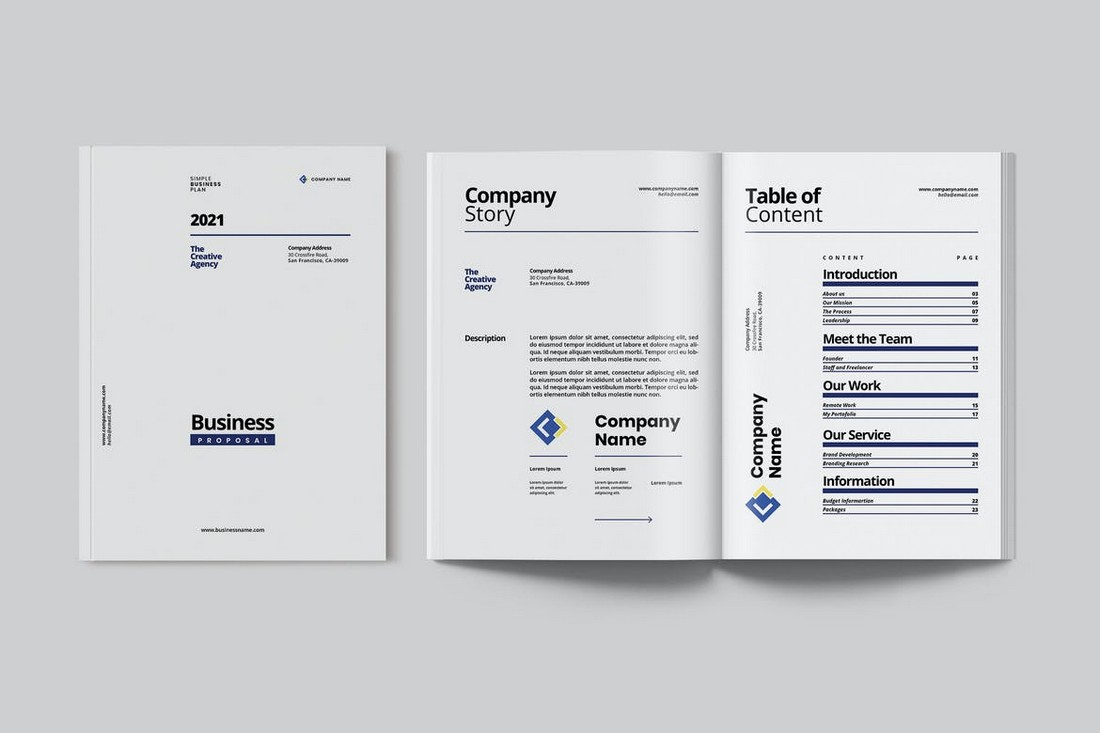Business Proposal & Profile Word Template