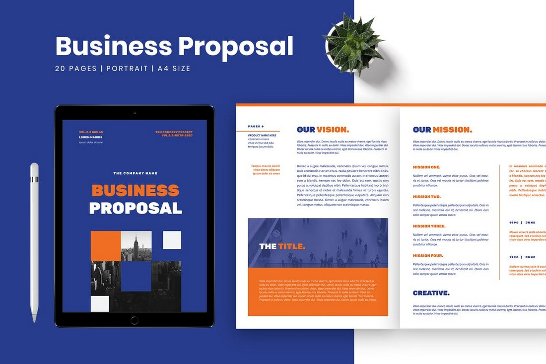 Business Proposal Word Brochure Template