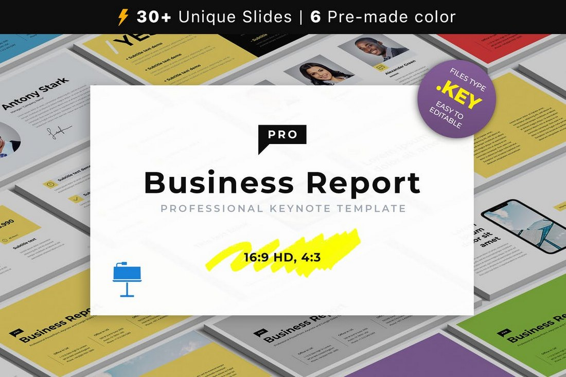 Business-Report-Animated-Keynote-Template 15+ Best Animated Keynote Templates With Stylish Transitions design tips