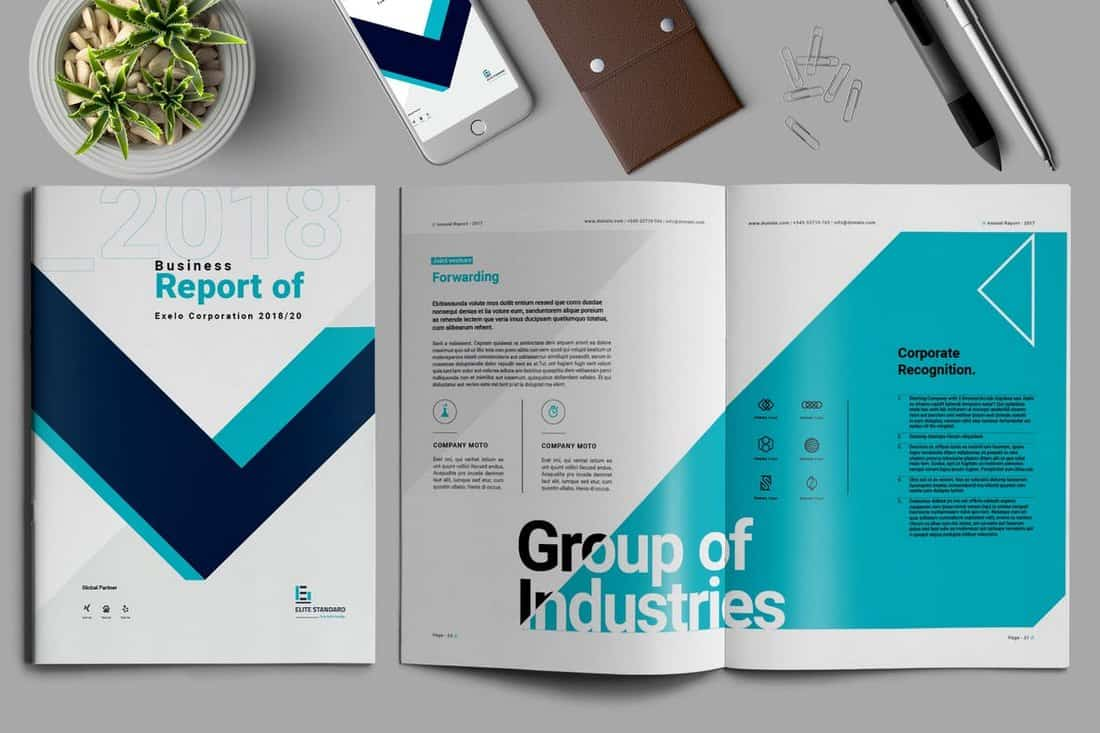 Business Report Brochure Template