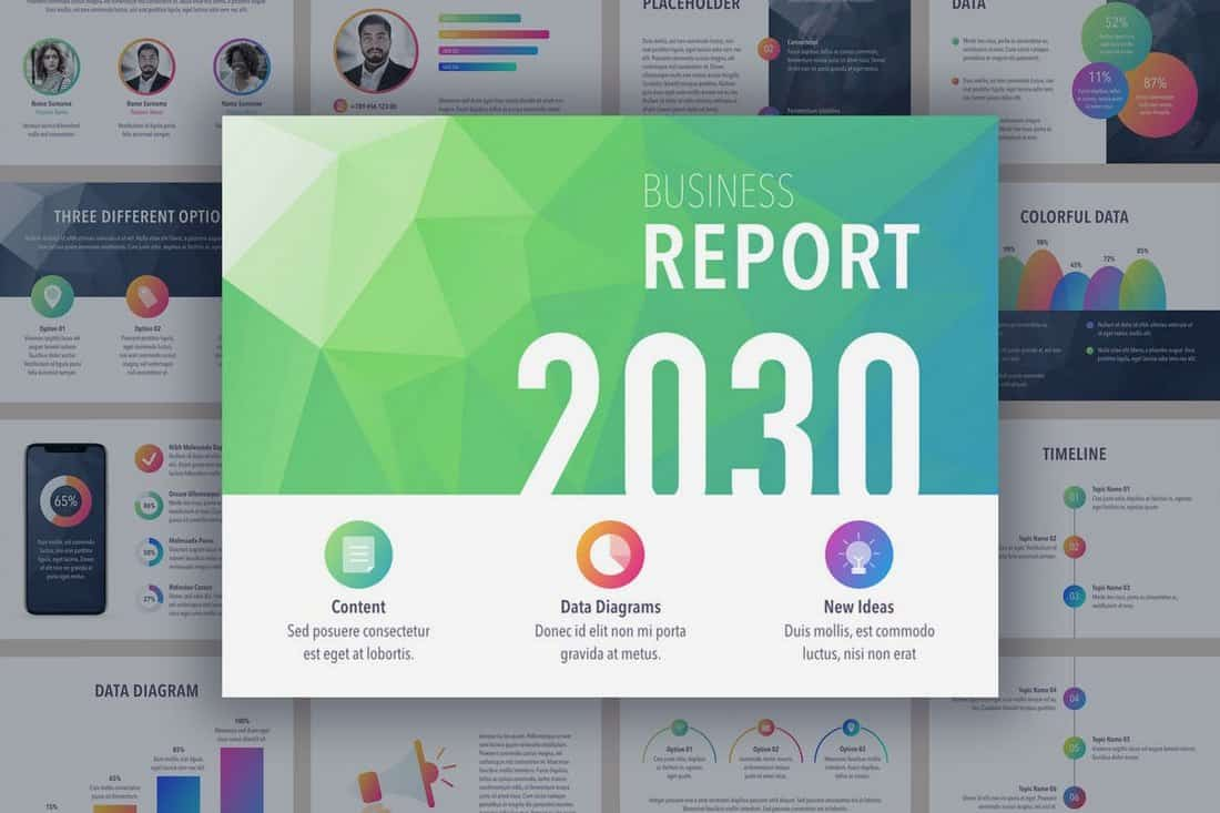 Business Report Colorite PowerPoint Template
