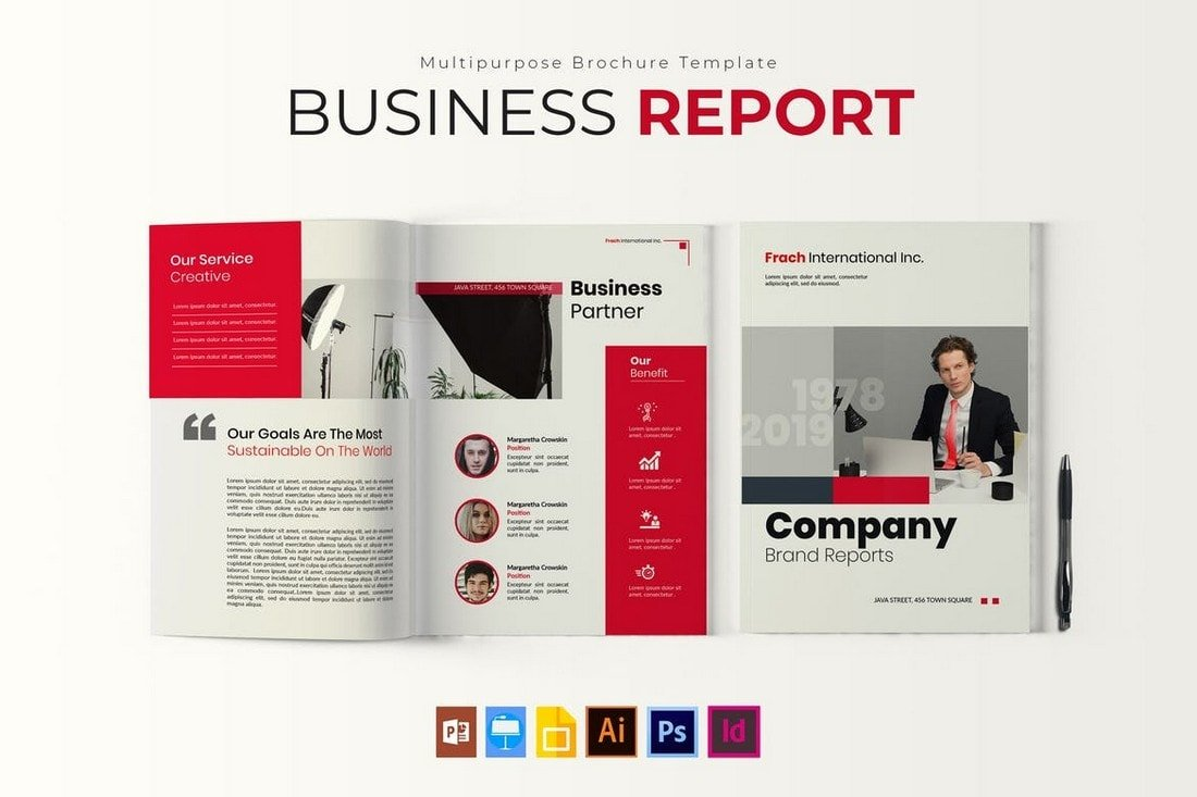 Business-Report-Multipurpose-Template 30+ Annual Report Templates (Word & InDesign) 2020 design tips  Inspiration|annual|report|template