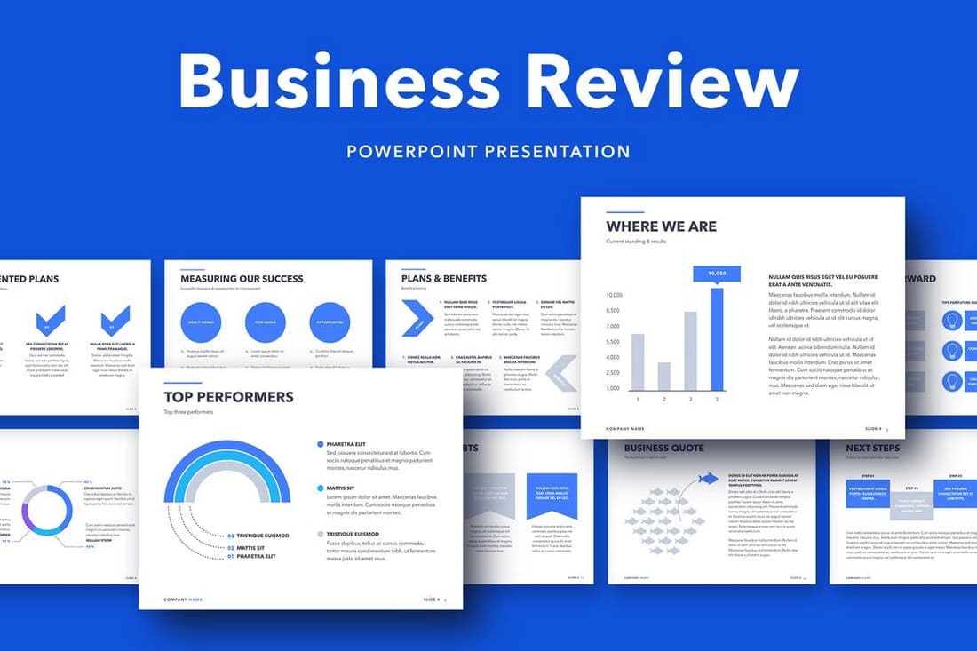 Business-Review-PowerPoint-Template 50+ Best PowerPoint Templates of 2020 design tips