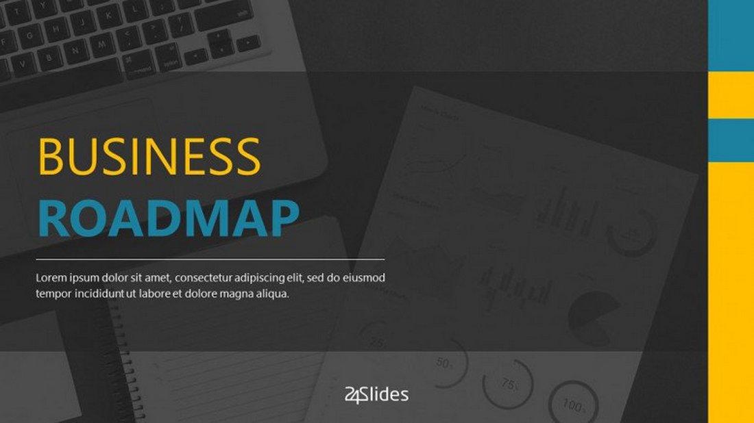 Business Roadmap - Free PowerPoint Template