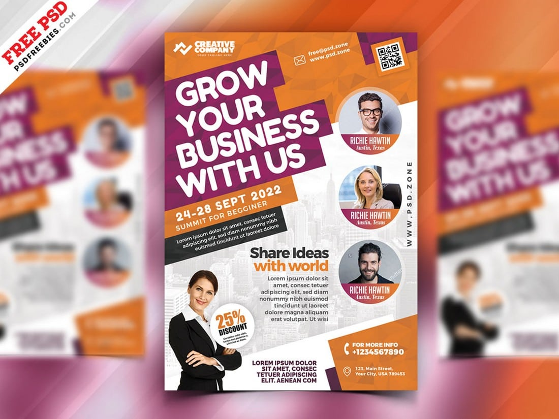 Business-Seminars-Workshops-Poster-Template 20+ Best Free Poster Templates (Illustrator & Photoshop) 2020 design tips  Inspiration