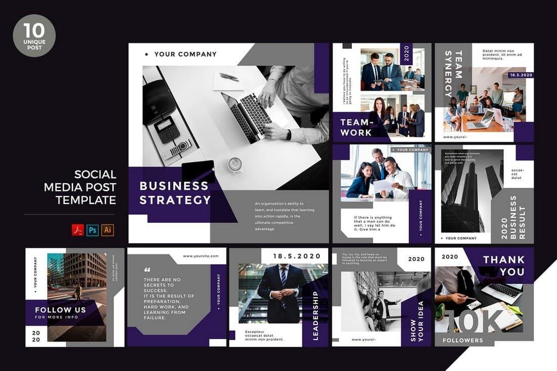 Business Strategy Social Media Kit