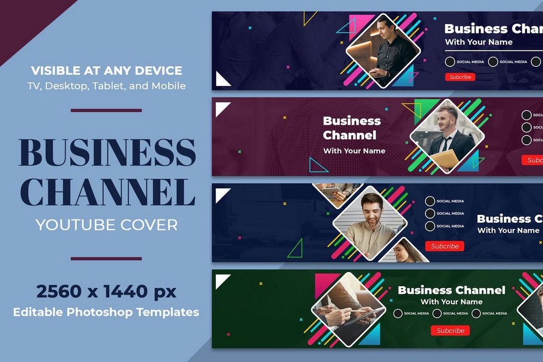 Business Youtube Cover Art Templates