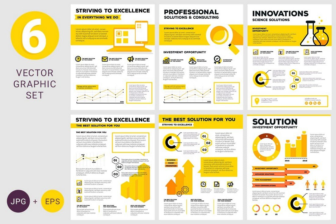 Business infographics Illustrator Templates