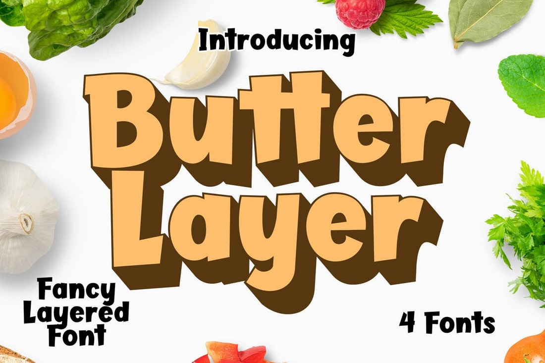 Butter Layer - Extrude 3D Fonts